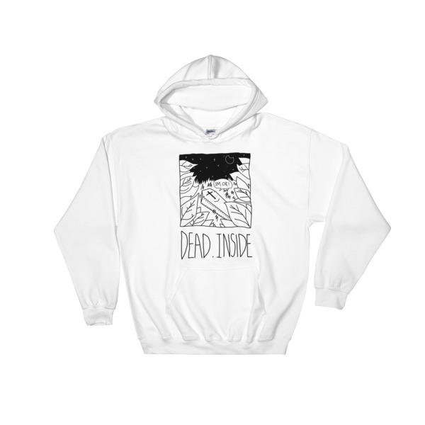 Dead Inside black Hooded Sweatshirt